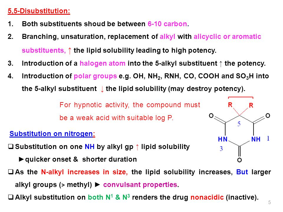 Both substituents shoud be between 6-10 carbon.