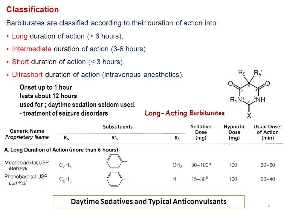 Daytime Sedatives and Typical Anticonvulsants