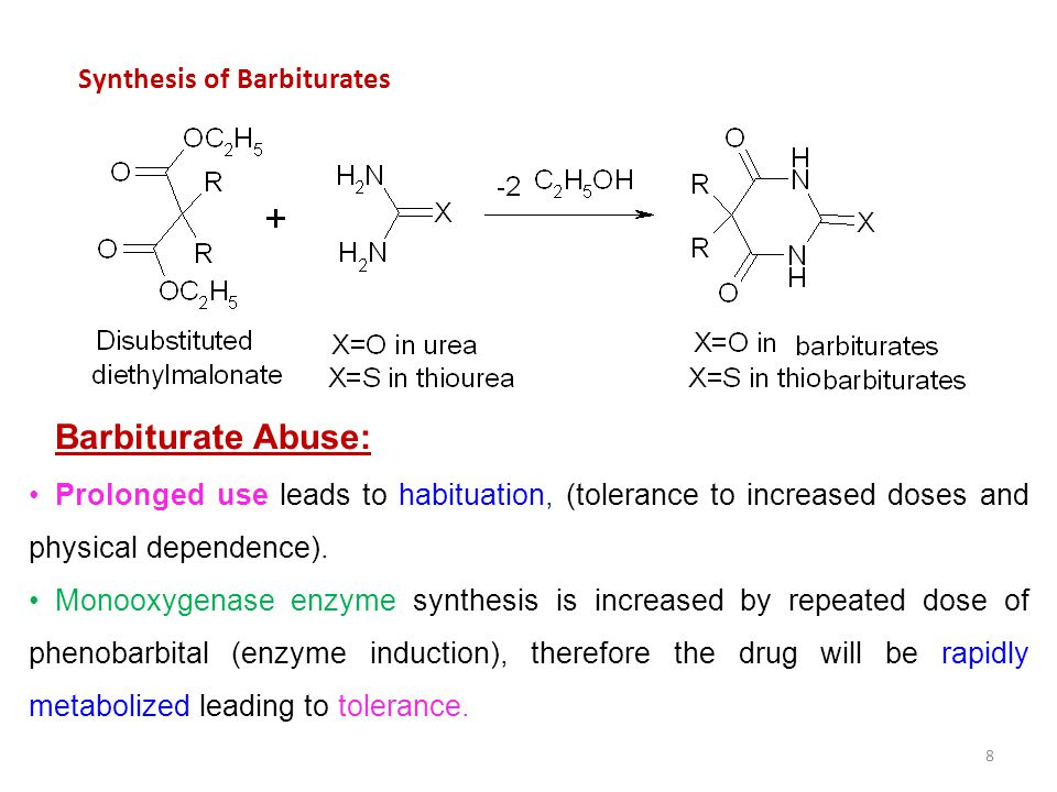 Barbiturate Abuse: Synthesis of Barbiturates