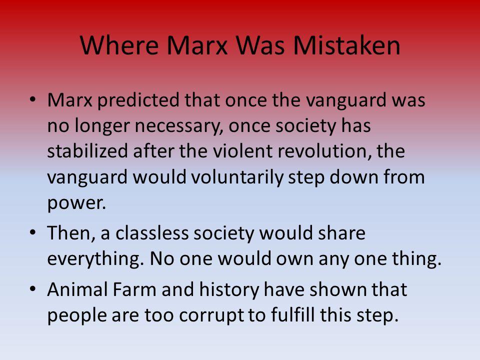 Where Marx Was Mistaken
