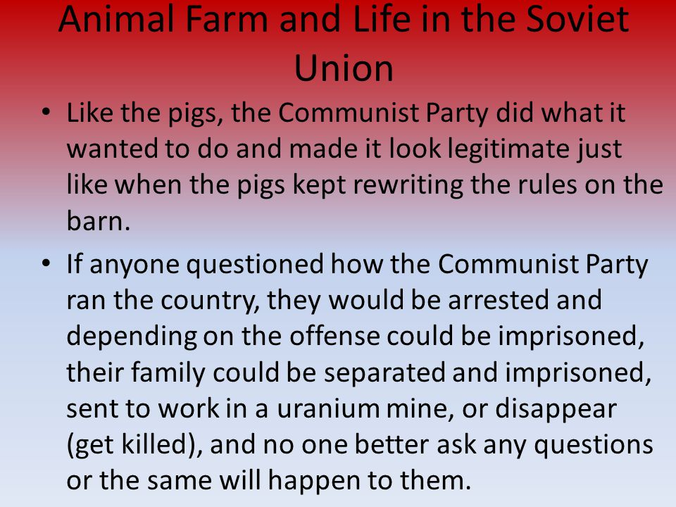 Animal Farm and Life in the Soviet Union