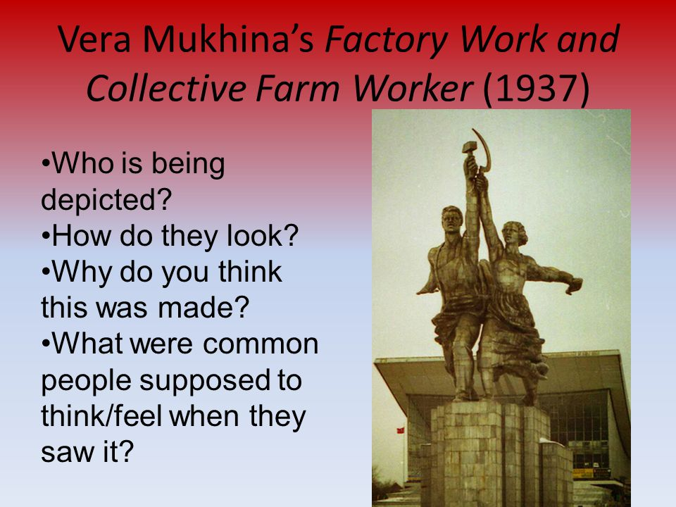 Vera Mukhina's Factory Work and Collective Farm Worker (1937)