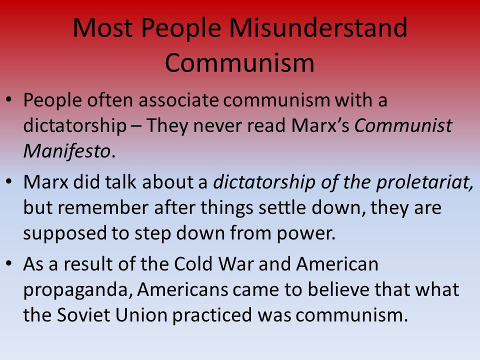 Most People Misunderstand Communism