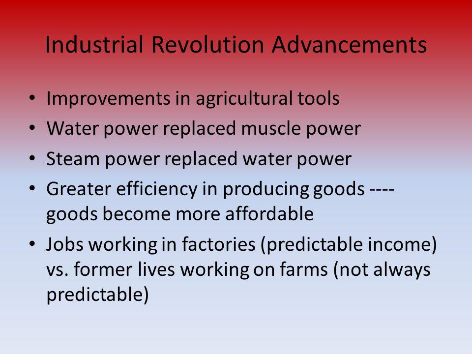 Industrial Revolution Advancements