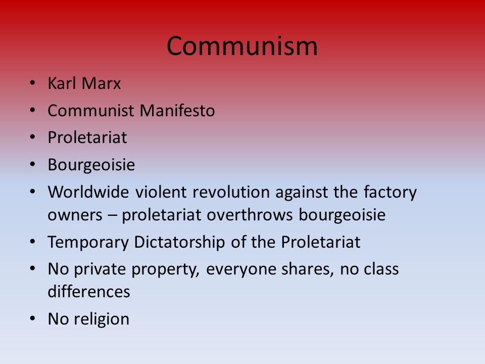 Communism Karl Marx Communist Manifesto Proletariat Bourgeoisie