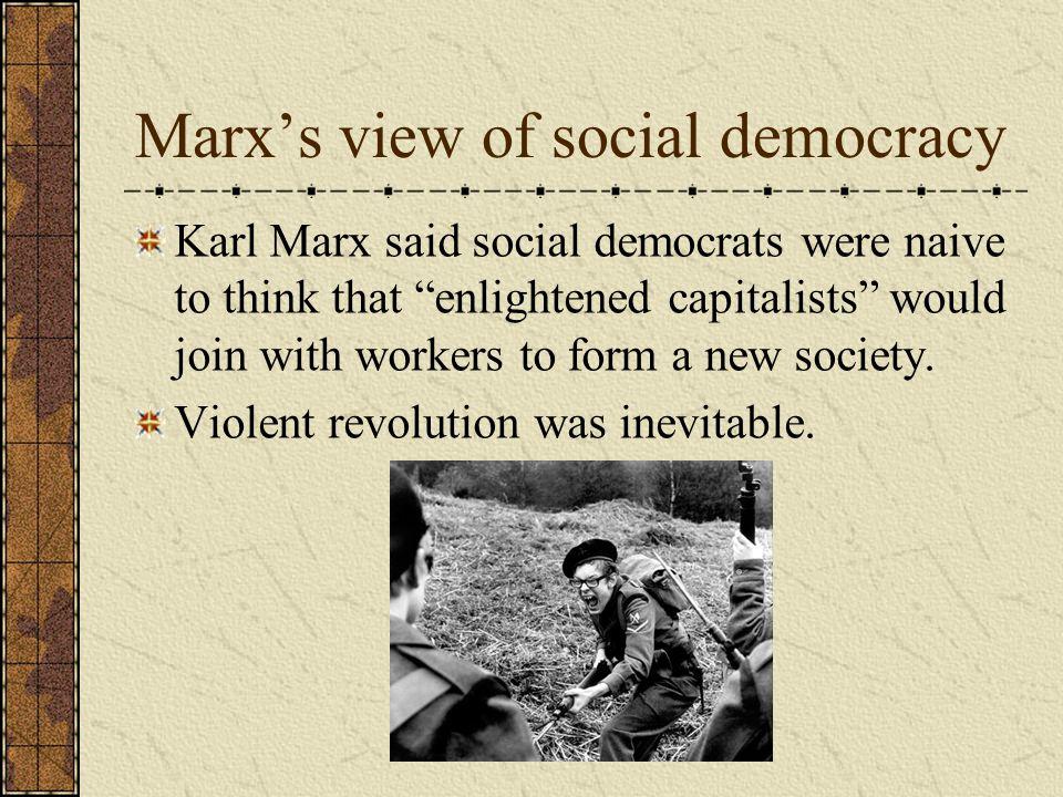 Marx's view of social democracy