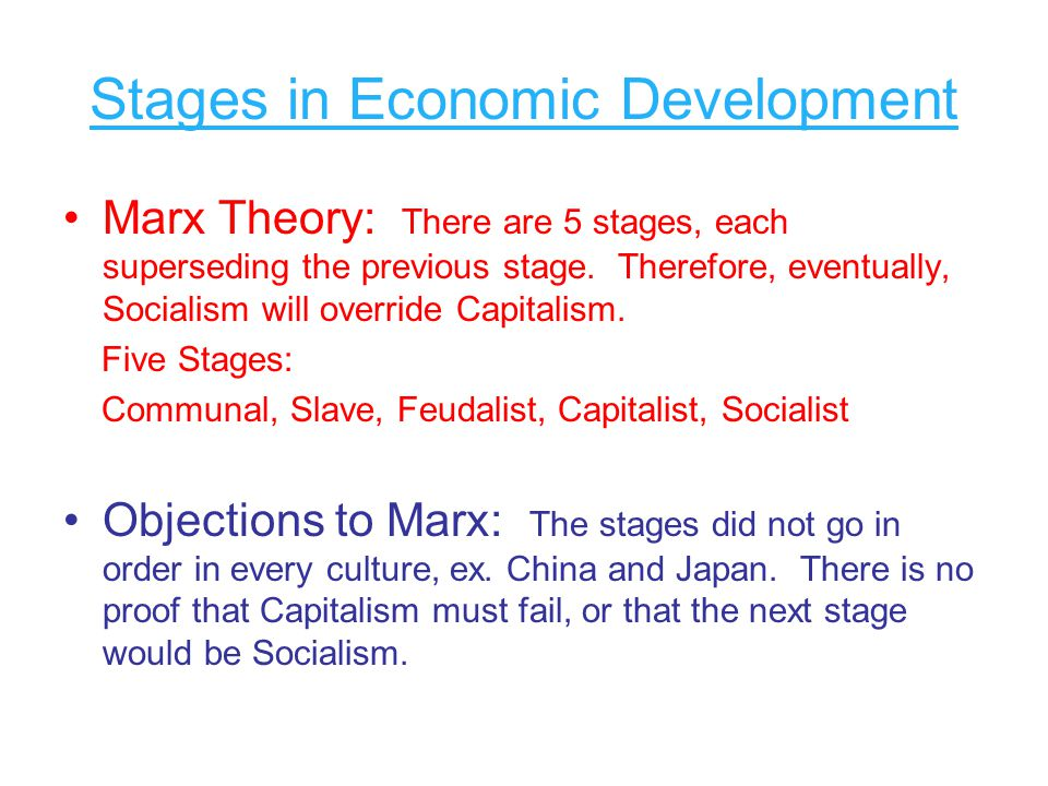Stages in Economic Development