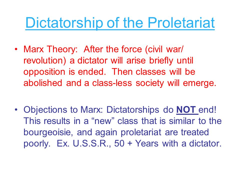 Dictatorship of the Proletariat