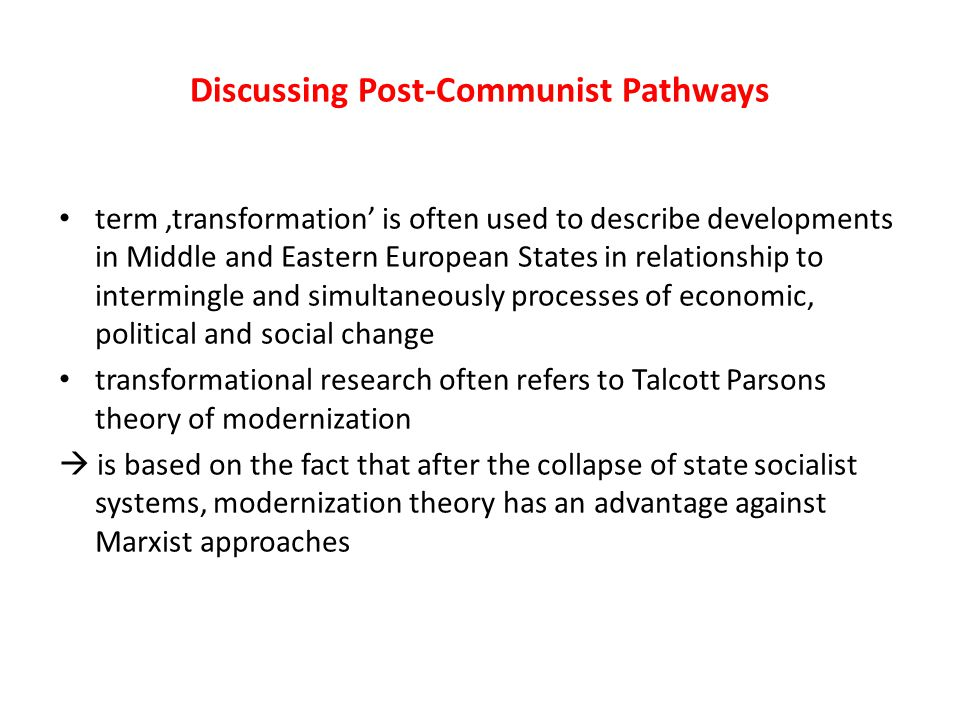 Discussing Post-Communist Pathways