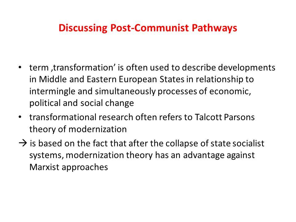 Discussing Post-Communist Pathways