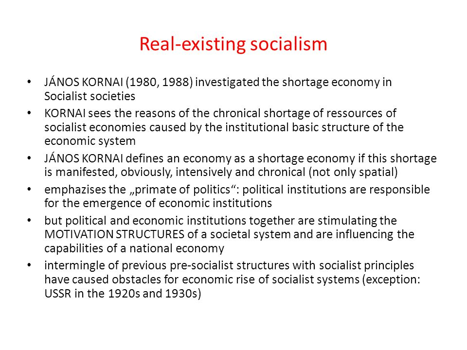 Real-existing socialism