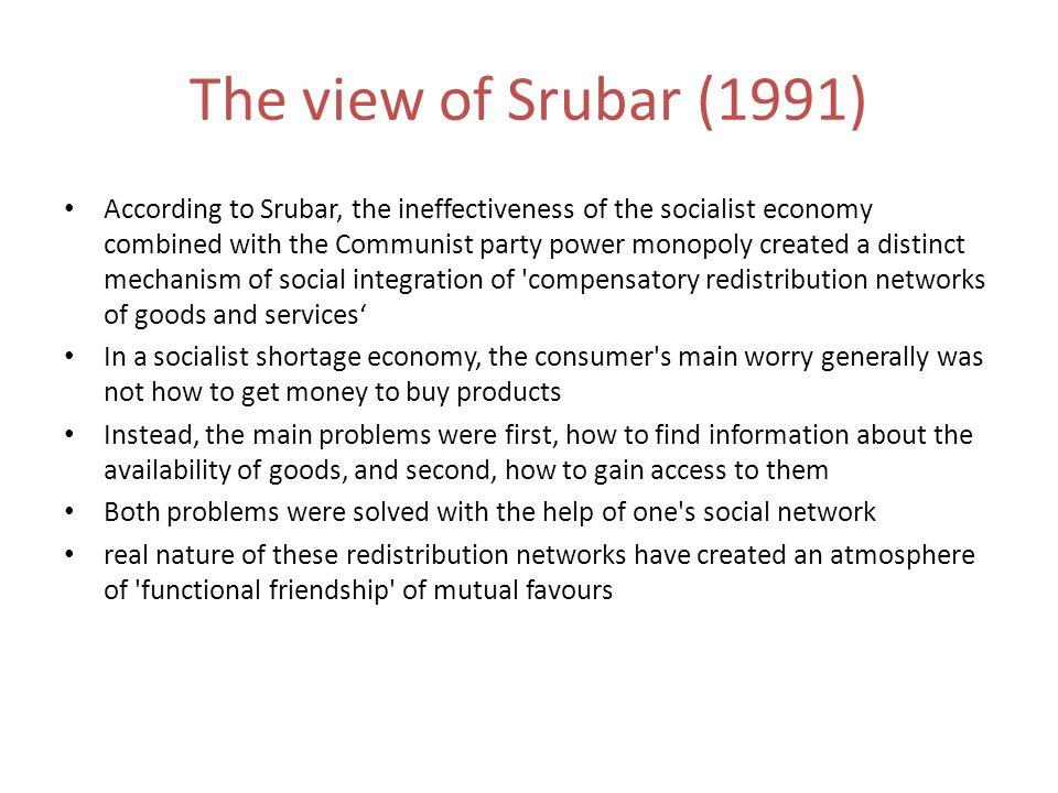 The view of Srubar (1991)