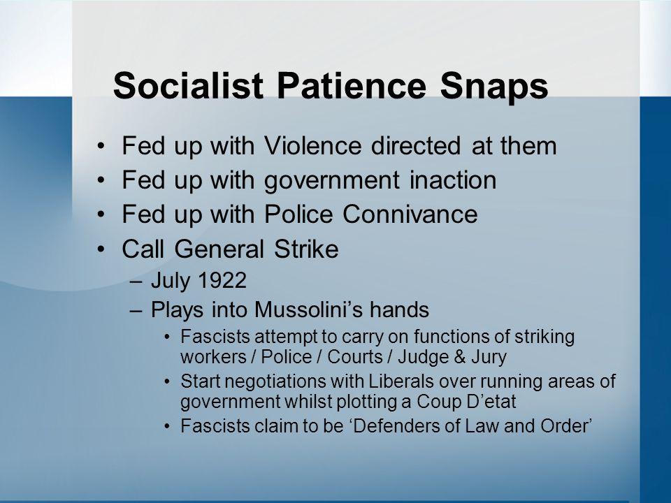 Socialist Patience Snaps