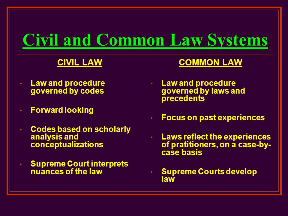 a comparison of the criminal justice system and the civil law system Tulane journal of international and comparative law volume 18 spring 2010 no2 australia and the united states: two common criminal justice systems uncommonly at odds,.