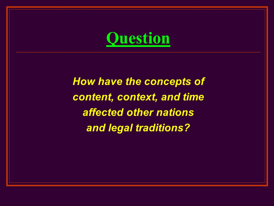 Question How have the concepts of content, context, and time
