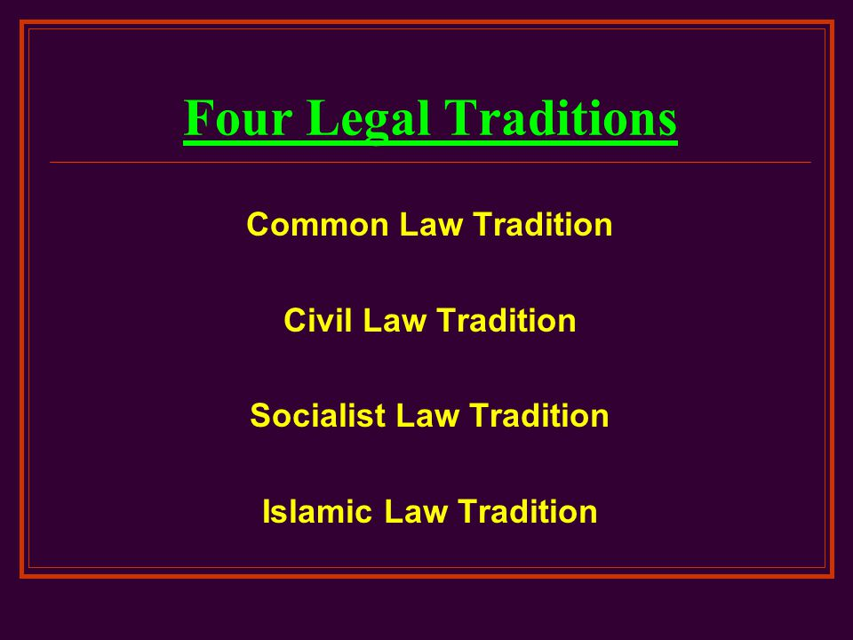 Socialist Law Tradition