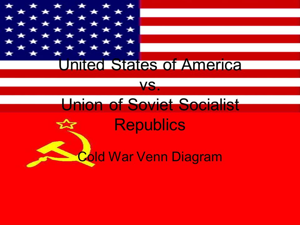 United States of America vs. Union of Soviet Socialist Republics