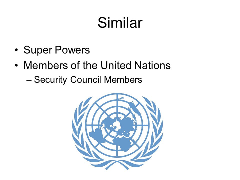 Similar Super Powers Members of the United Nations