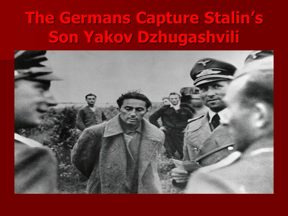 The Germans Capture Stalin's Son Yakov Dzhugashvili