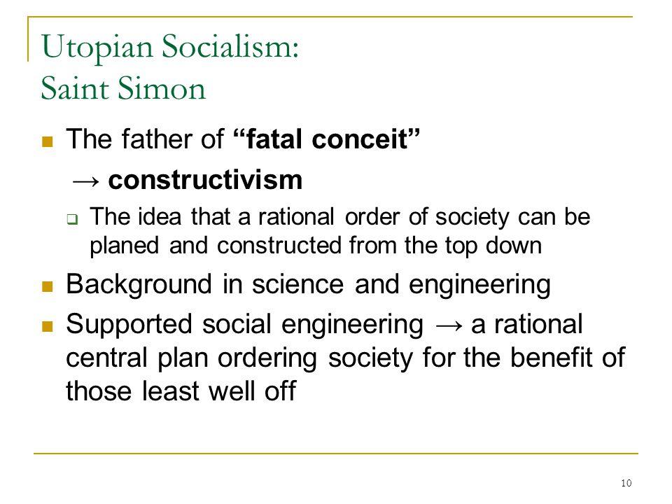 Utopian Socialism: Saint Simon