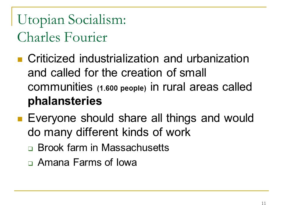 Utopian Socialism: Charles Fourier