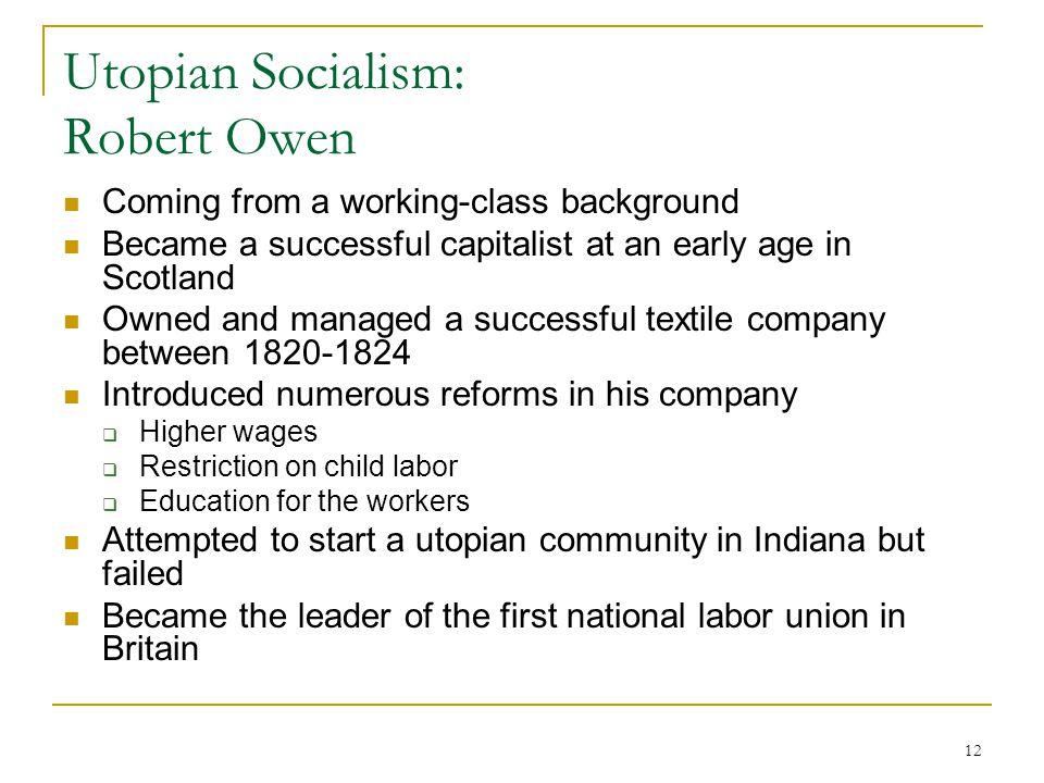 Utopian Socialism: Robert Owen