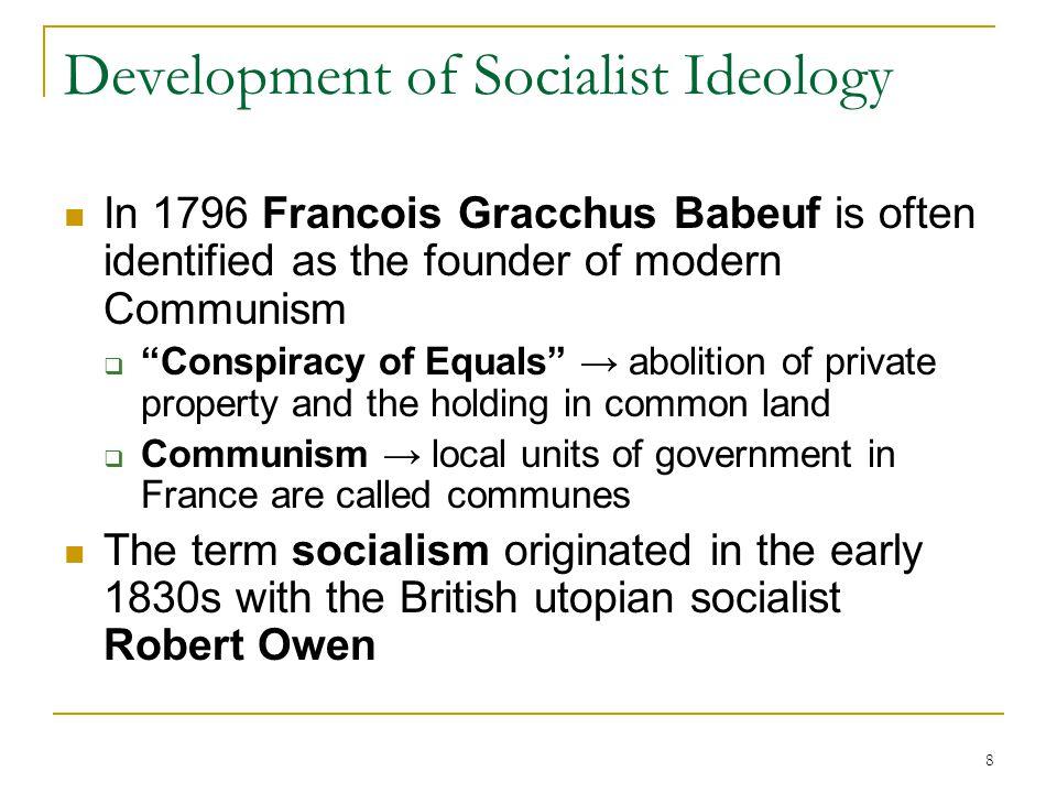 Development of Socialist Ideology