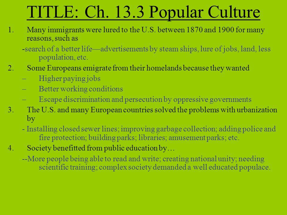 TITLE: Ch. 13.3 Popular Culture