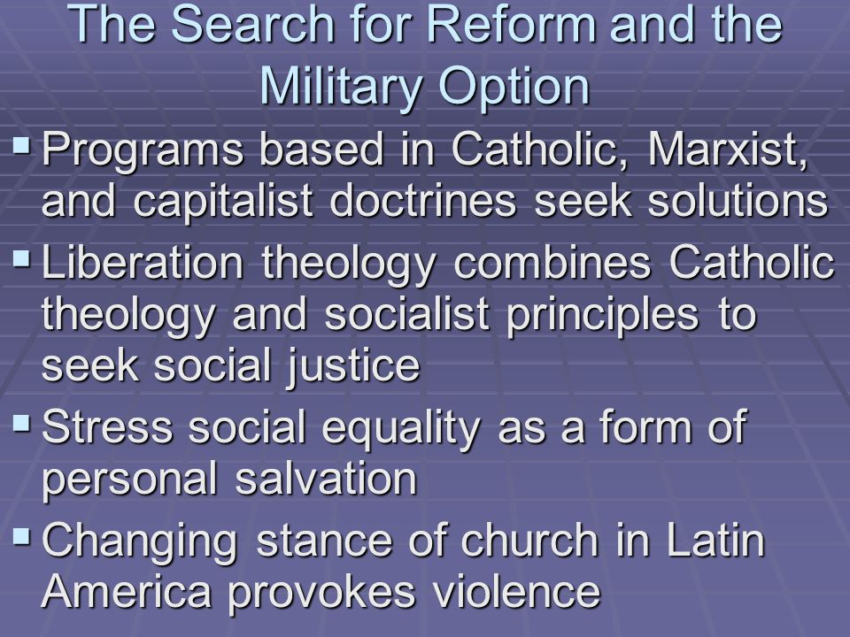 The Search for Reform and the Military Option