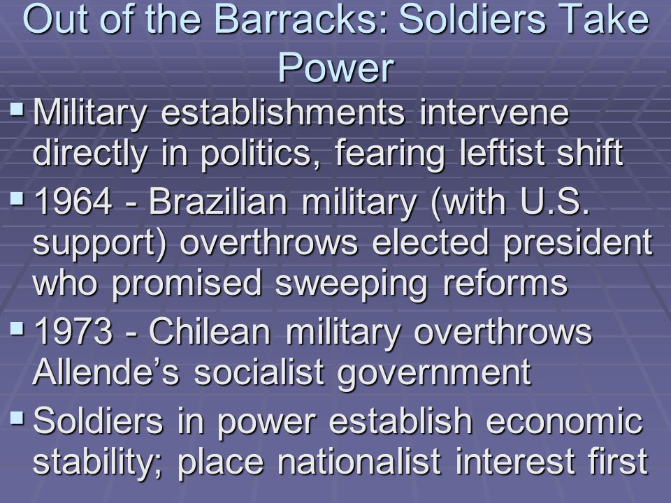 Out of the Barracks: Soldiers Take Power