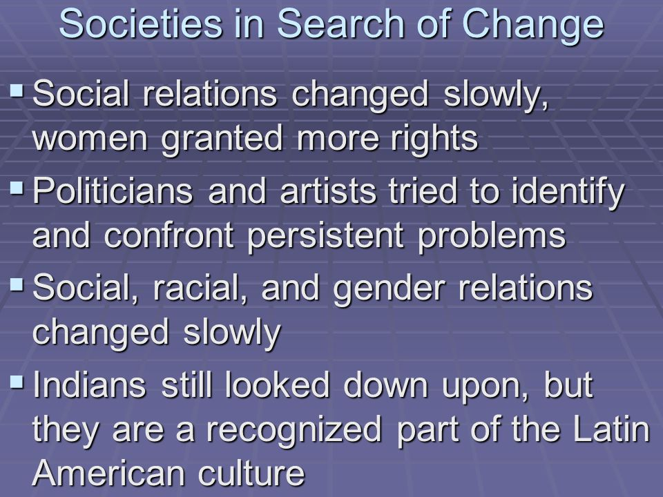 Societies in Search of Change