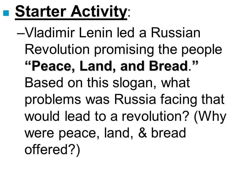 the problems that lead to the russian revolution Events leading to the october revolution which greatly affected the russian the provisional government had very limited success in dealing with these problems.