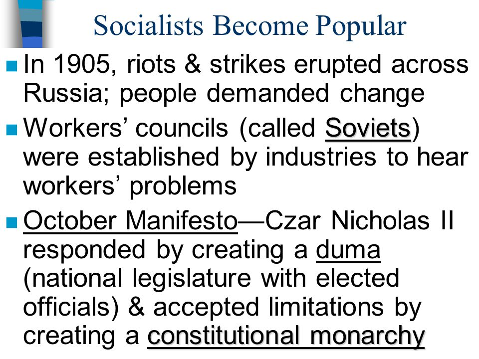 Socialists Become Popular