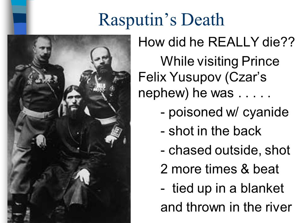 Rasputin's Death How did he REALLY die