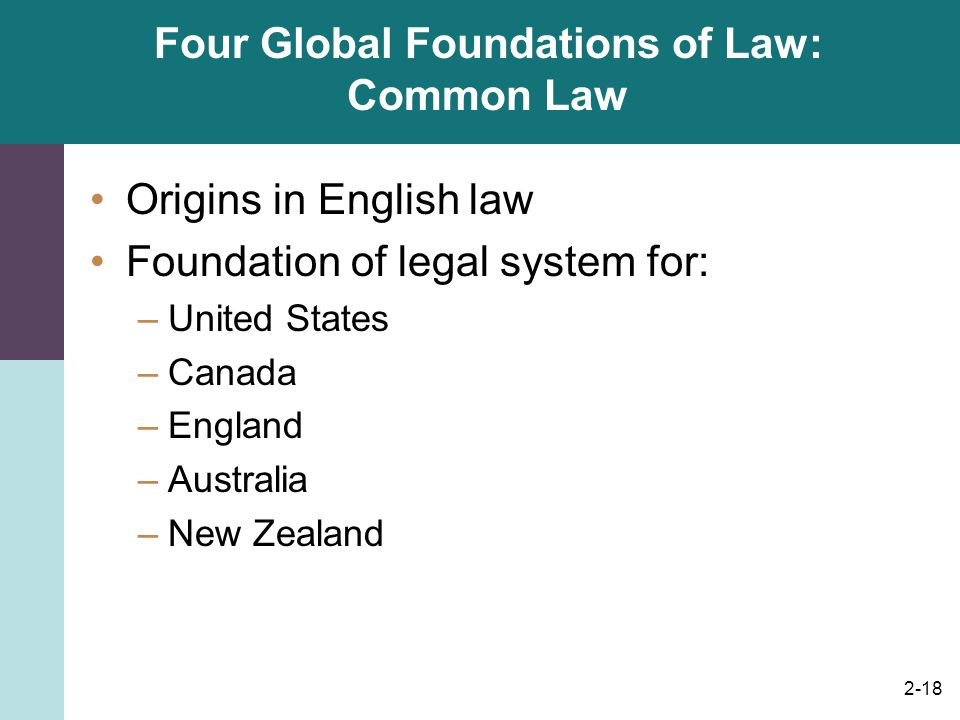 Four Global Foundations of Law: Common Law