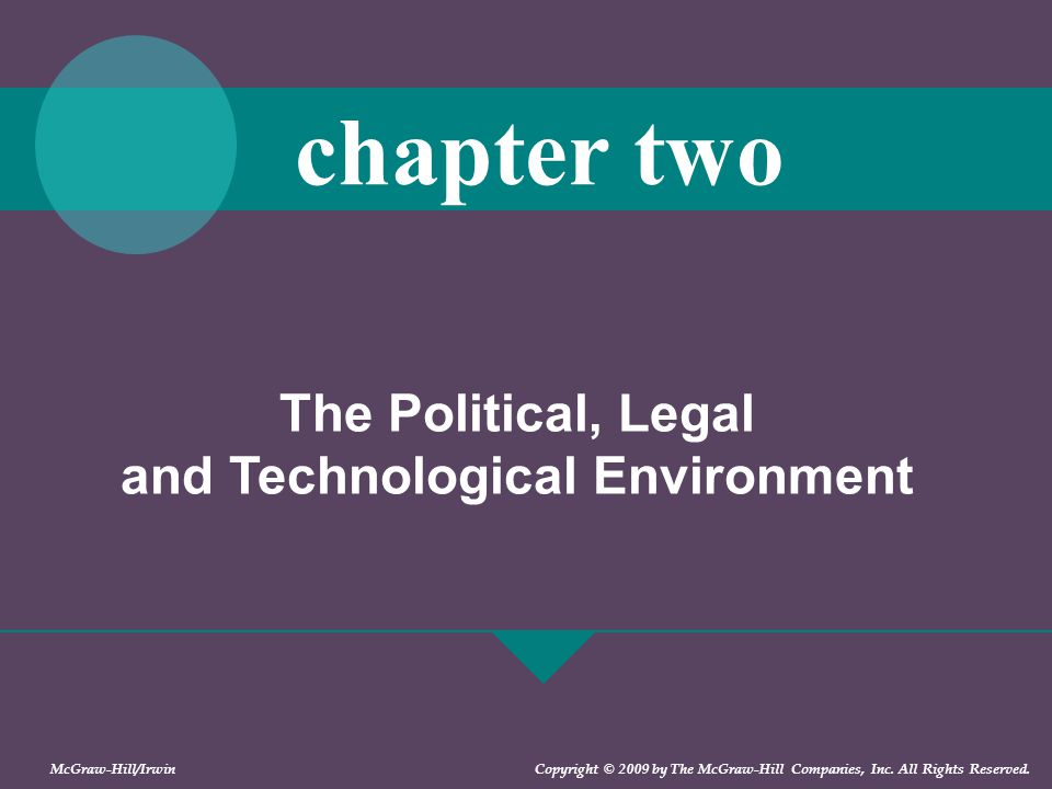 The Political, Legal and Technological Environment