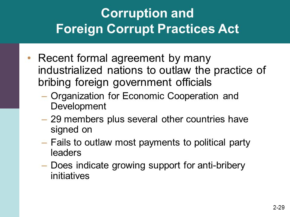 Corruption and Foreign Corrupt Practices Act