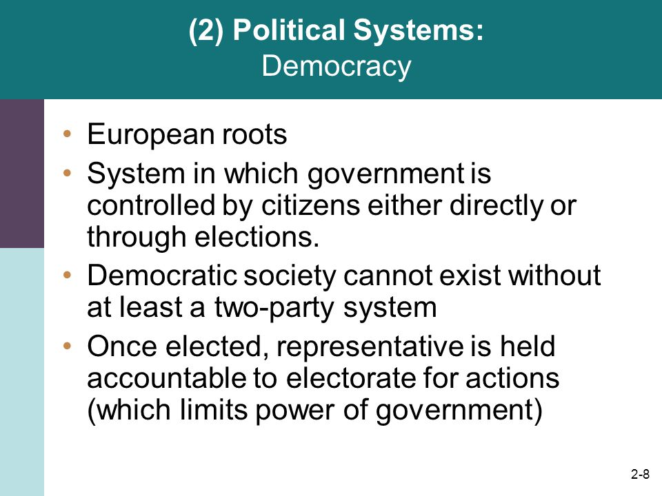 (2) Political Systems: Democracy