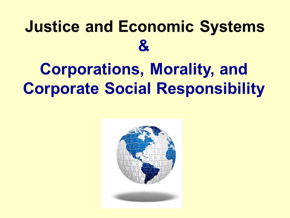 Justice and Economic Systems