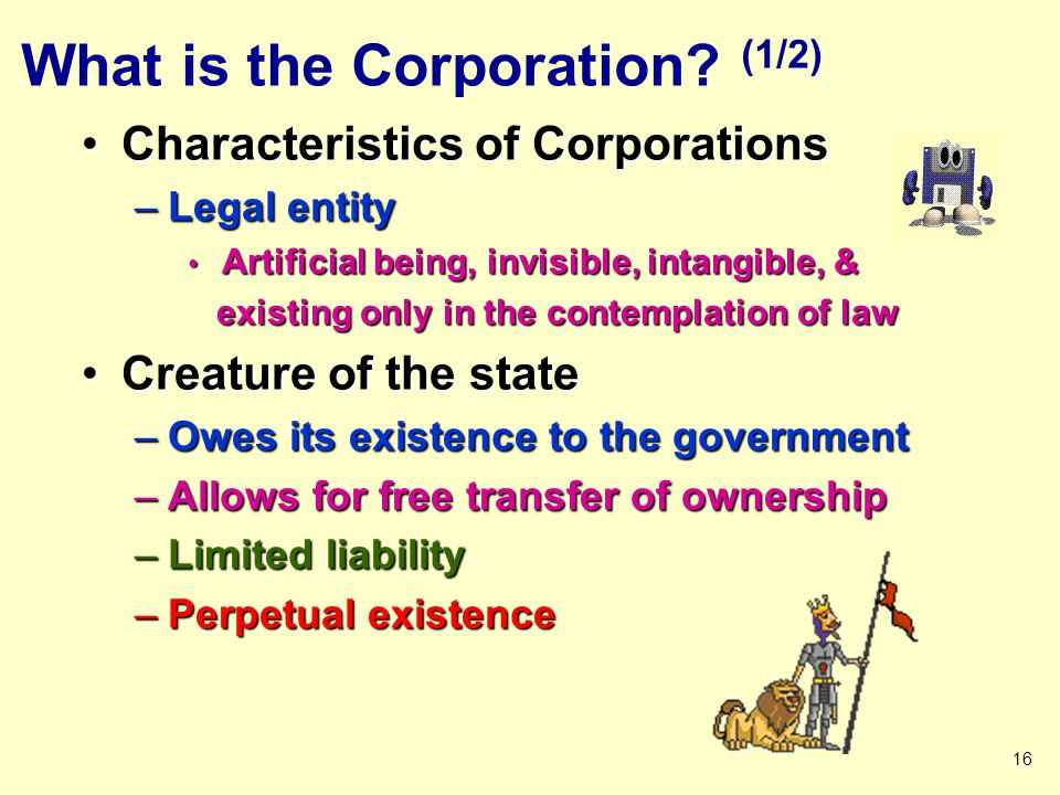 What is the Corporation (1/2)