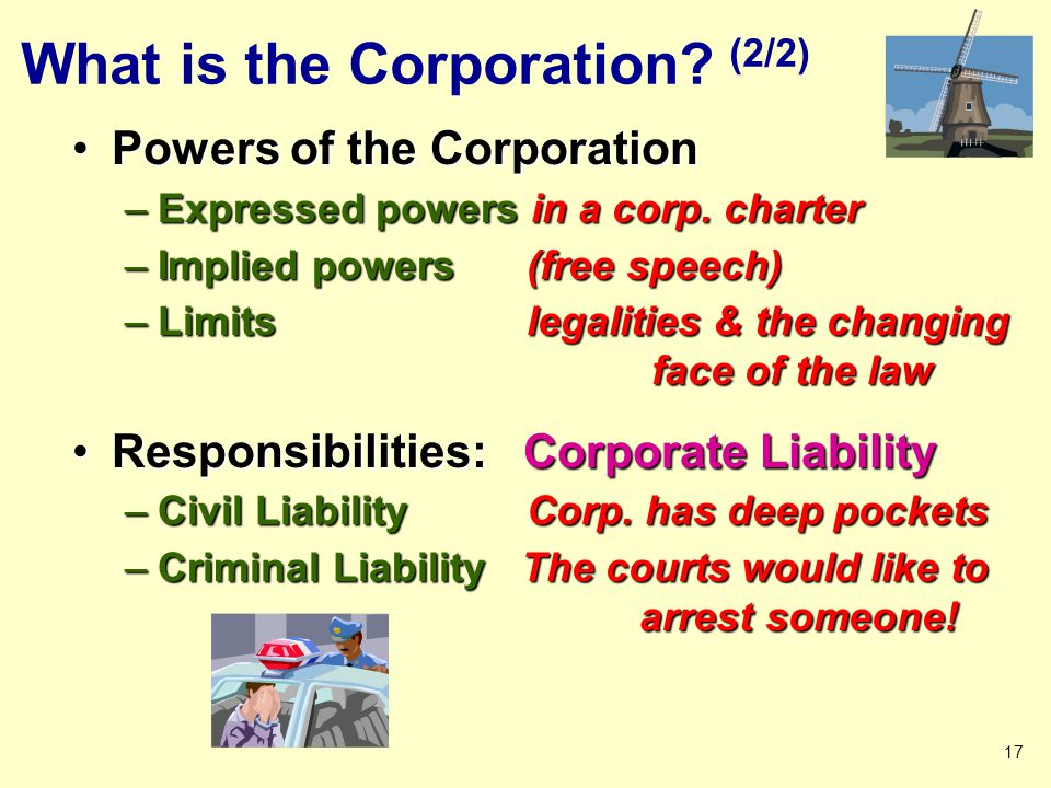 What is the Corporation (2/2)