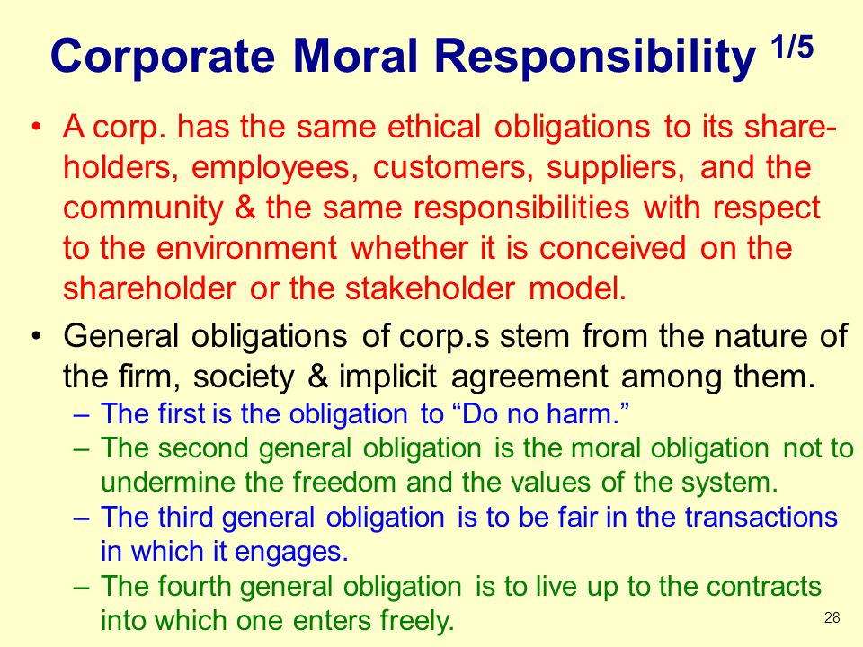 Corporate Moral Responsibility 1/5