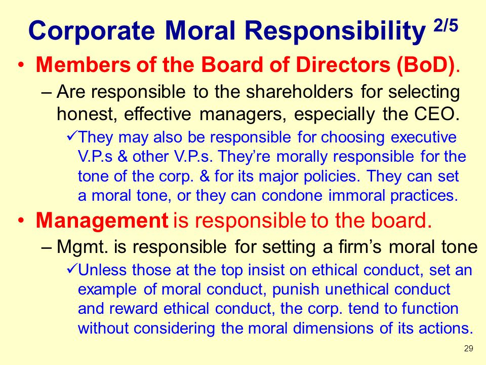 Corporate Moral Responsibility 2/5