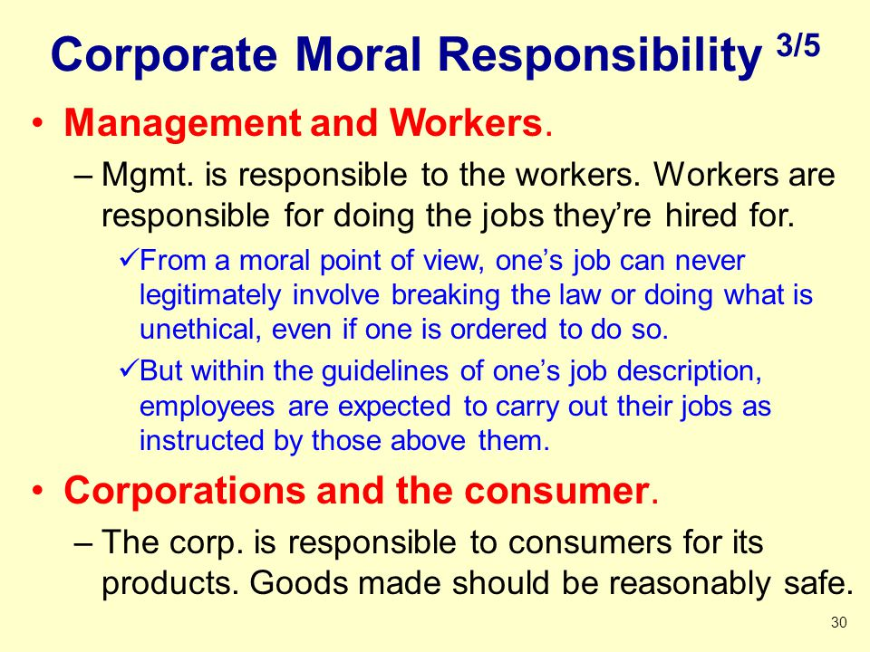 Corporate Moral Responsibility 3/5