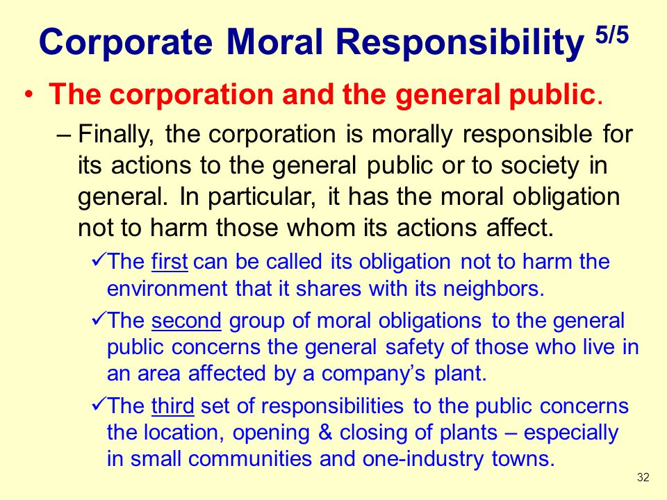 Corporate Moral Responsibility 5/5