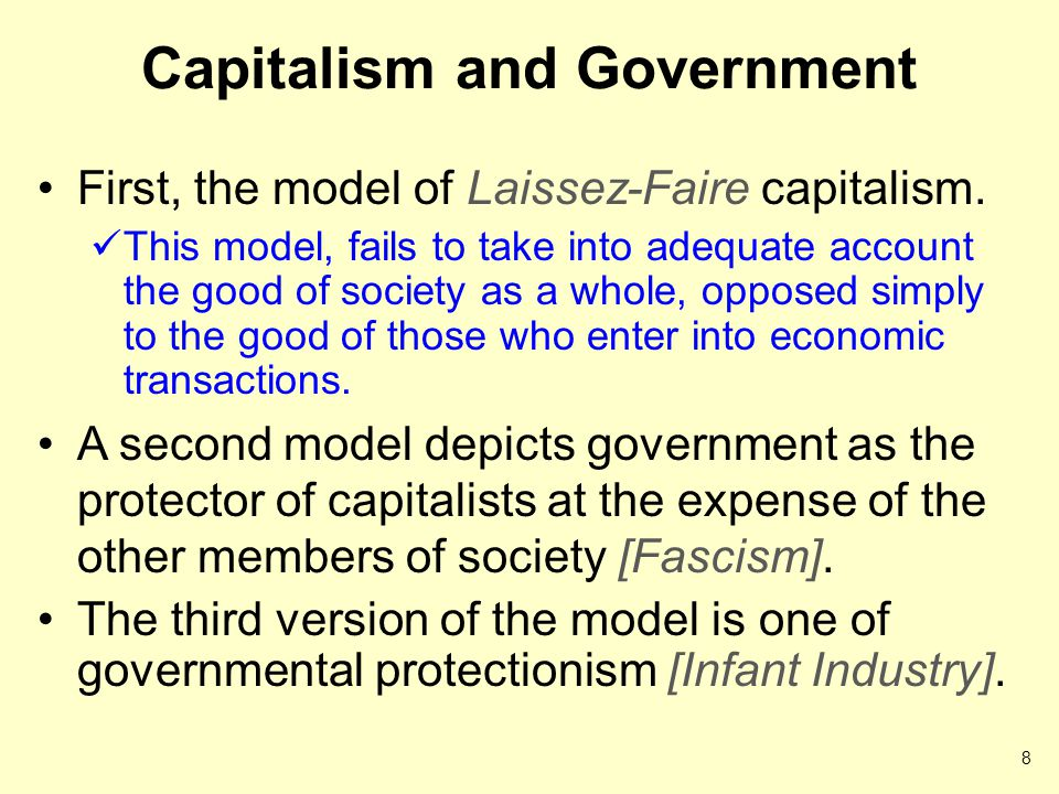 Capitalism and Government