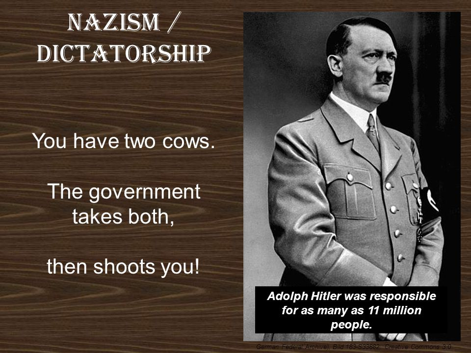 Adolph Hitler was responsible for as many as 11 million people.