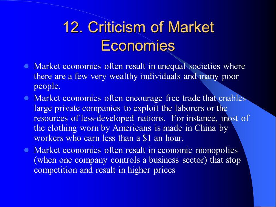 12. Criticism of Market Economies