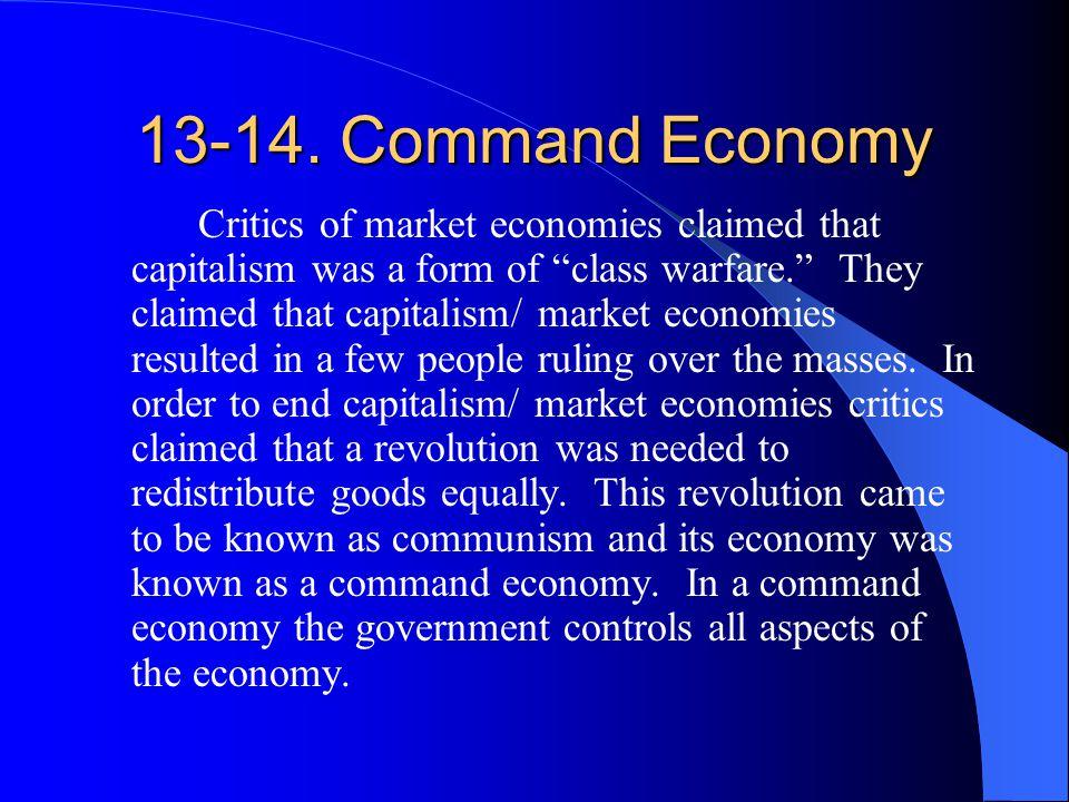 13-14. Command Economy