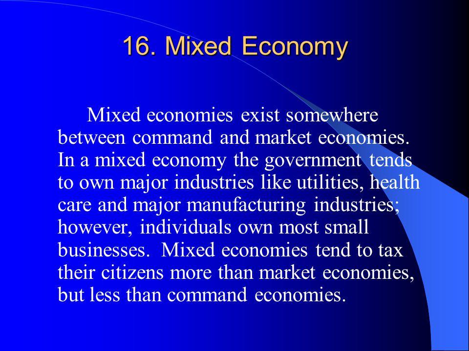 16. Mixed Economy